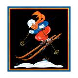 Ski Jump - Child Life Giclée-Druck von Clarence Biers
