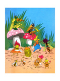 Insect Orchestra - Jack & Jill Giclee Print by Wilmer H. Wickham