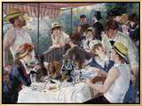 Luncheon of the Boating Party Framed Canvas Print by Pierre-Auguste Renoir