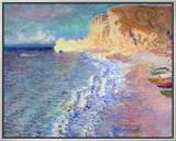 Morning at Etretat, 1883 Framed Canvas Print by Claude Monet