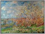 Spring, 1880-82 Framed Canvas Print by Claude Monet