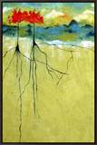 Deep Roots Framed Canvas Print by Ruth Palmer