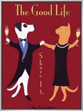 The Good Life Framed Canvas Print by Ken Bailey