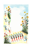 Fourth of July - Jack & Jill Giclee Print by Susan Carlton Smith