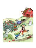 Farm Funnies - Humpty Dumpty Giclee Print by Marsha Winborn