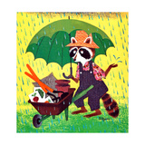 No Planting Today - Jack & Jill Giclee Print by Allan Eitzen
