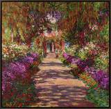 Path in Monet's Garden, Giverny Framed Canvas Print by Claude Monet