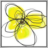 Yellow Petals 2 Framed Canvas Print by Jan Weiss
