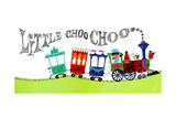 Little Choo Choo - Jack & Jill Giclee Print by Audrey Walters
