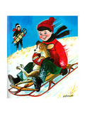 Away We Go! - Jack & Jill Giclee Print by George Lesnak