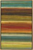 Organic Layers II - Stripes, Layers Framed Canvas Print by Jeni Lee