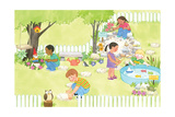 My Playtime Garden - Turtle Giclee Print by Kathryn Mitter
