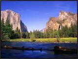 Yosemite Valley Framed Canvas Print by Robert Glusic