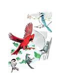Gramps' Nature Tales - Jack & Jill Giclee Print by Bill Walsh
