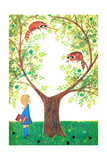 Raccoons - Jack & Jill Giclee Print by Jackie Lacy