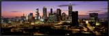 Skyline at Dusk, Cityscape, Skyline, City, Atlanta, Georgia, USA Framed Canvas Print by  Panoramic Images