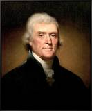 Thomas Jefferson Framed Canvas Print by Rembrandt Peale