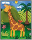 Gerry the Giraffe Framed Canvas Print by Sophie Harding