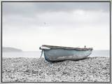 Boat at Beach in Devon Framed Canvas Print by Simon Plant