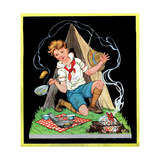 Campfire Cooking - Child Life Giclee Print by Hazel Frazee