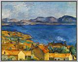 Cezanne:Marseilles,1886-90 Framed Canvas Print by Paul Cézanne