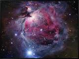 The Orion Nebula Framed Canvas Print by  Stocktrek Images