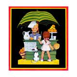 Lemonade Stand - Child Life Giclée-tryk af John Gee