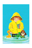 Puddles of Fun - Jack & Jill Giclee Print by Jack Weaver