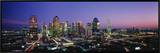 Night, Dallas, Texas, USA Framed Canvas Print by  Panoramic Images