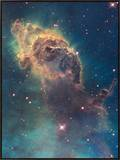 Star Birth in Carina Nebula from Hubble's Wfc3 Detector Framed Canvas Print