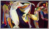 Dances, 1914/15 Framed Canvas Print by Arthur Bowen Davies