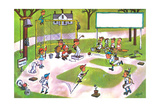 Spring Training - Jack & Jill Giclee Print by Lee de Groot