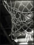 Close-up of a Basketball Net Framed Canvas Print