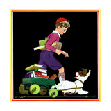 Back to School Helper - Child Life Giclee Print by Keith Ward