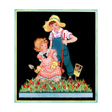 Planting Hyacinth - Child Life Giclee Print by Hazel Frazee