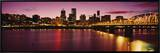 Willamette River at Sunset, Portland, Oregon, USA Framed Canvas Print by  Panoramic Images