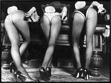 Playboy Bunnies Will Challenge Press Club Rabbits at the Press Club, February 1978 Framed Canvas Print