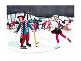 Icy Valentine - Jack & Jill Giclee Print by Beth Henninger