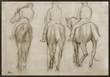 Jockeys Framed Canvas Print by Edgar Degas