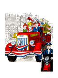 Fourth of July Parade - Jack & Jill Giclee Print