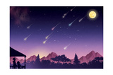 Waiting for the Perseids - Jack & Jill Giclee Print by Richard Hoit