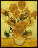 Sunflowers Framed Canvas Print by Vincent van Gogh