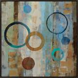 Bubble Graffiti II Framed Canvas Print by Silvia Vassileva