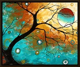 Many Moons Ago Framed Canvas Print by Megan Aroon Duncanson