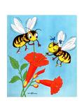 Flower Nectar - Jack & Jill Giclee Print by Wilmer H. Wickham