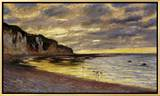 Pointe de Lailly, Maree Basse, 1882 Framed Canvas Print by Claude Monet