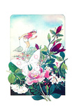Butterflies and Ladybugs - Jack & Jill Giclee Print by Len Ebert