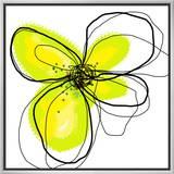 Yellow Petals 4 Framed Canvas Print by Jan Weiss