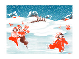 Fell on the Ice - Jack & Jill Giclee Print by Ann Eshner