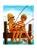 Crab Fishing - Jack & Jill Giclee Print by Joy Friedman